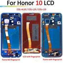 Para huawei honor 10 display lcd de toque digitador da tela COL AL10 COL L29 COL L19 assembléia substituição para honra 10 lcd