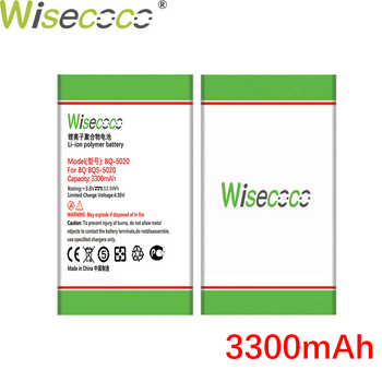 Wisecoco BQS5020 Strike 3300mAh Battery For BQ BQ-5020 BQS-5020 BQ-5065 Phone Battery Replace+Tracking Number wisecoco bv9000 2pcs 7150mah new produced battery for blackview bv9000 bv 9000 pro high quality phone battery replace tracking