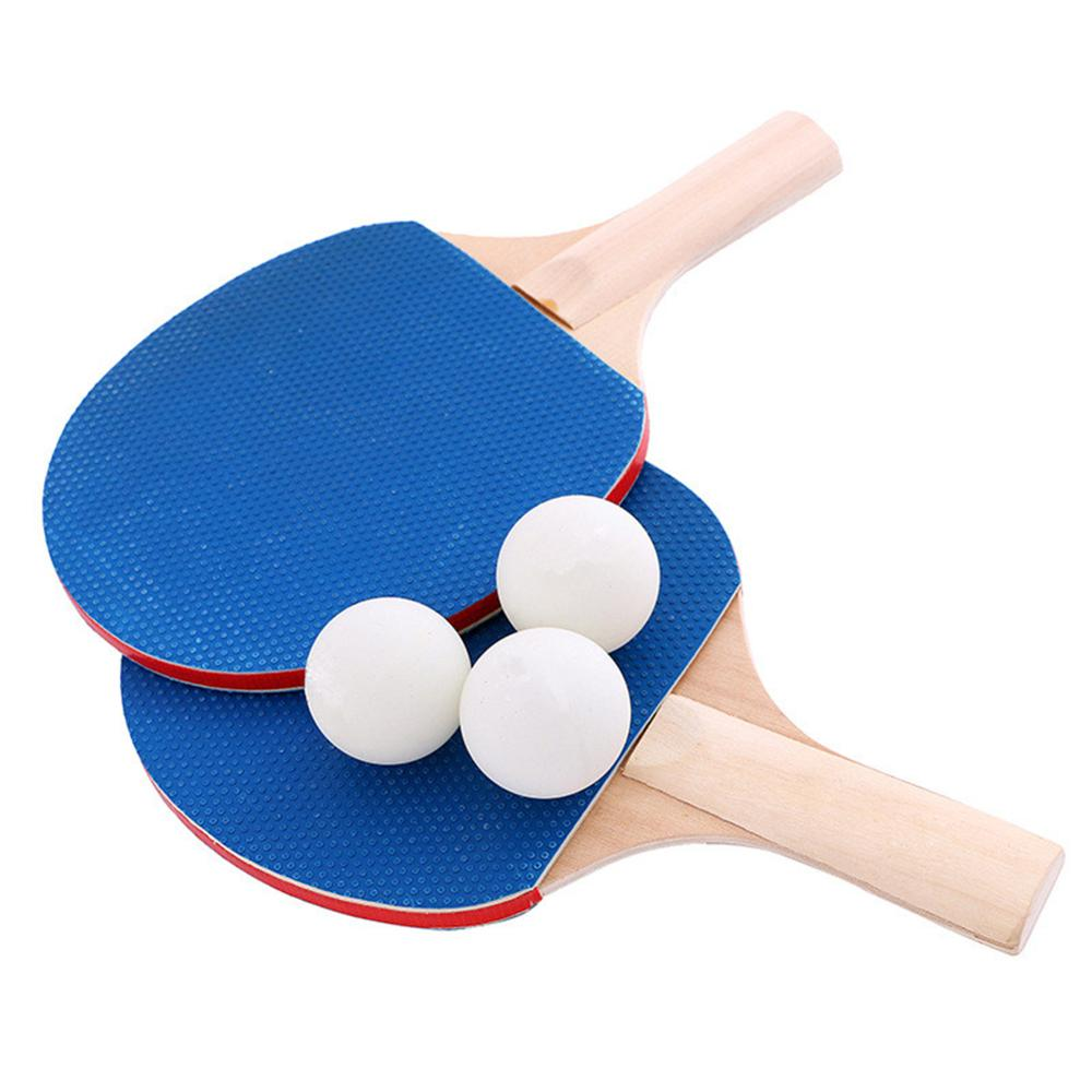 2pcs Portable Pen-hold Type Table Tennis Racket Set With 1pcs Retractable Net And 3pcs Ping Pong Balls For Indoor Outdoor Play