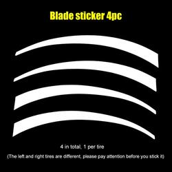SALE DIY Car Reflective Wheel Hub Sticker Styling Decals  3D Logo Tire Lettering Kit Reflective PET Car Tire Stickers Universal