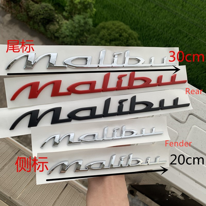 New Style For Chevrolet Malibu Rear Tail Emblem Sticker Side Door Fender Logo Script Decal