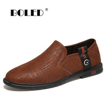 Genuine Leather Casual Shoes Flats Comfortable Classic Shoes Men Slip On Loafers Moccasins Outdoor Driving Shoes new men s octopus leather penny loafers crocodile slip on driving shoes mens casual shoes moccasins business boat shoes branded