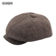SILOQIN New Autumn Winter Middle-aged Man Fashion Berets Artist Painter Trend Octagonal Cap Leisure Motion Hats gorras Dads Hat