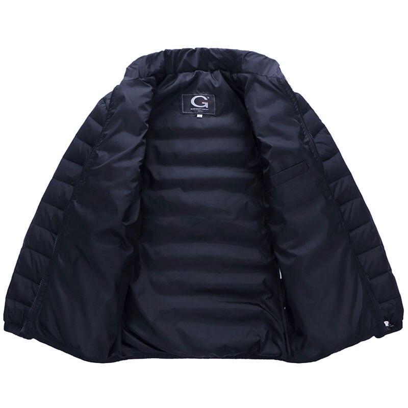 Мужская зимняя куртка на утином пуху, сверхлегкая Повседневная Верхняя одежда с меховым воротником, большие размеры, 2019