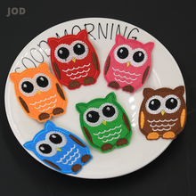 Colored Bird Owl Iron on Stripes Embroidered Patches for Clothing Patch Badges Transfers Applique Thermal Stickers Clothes