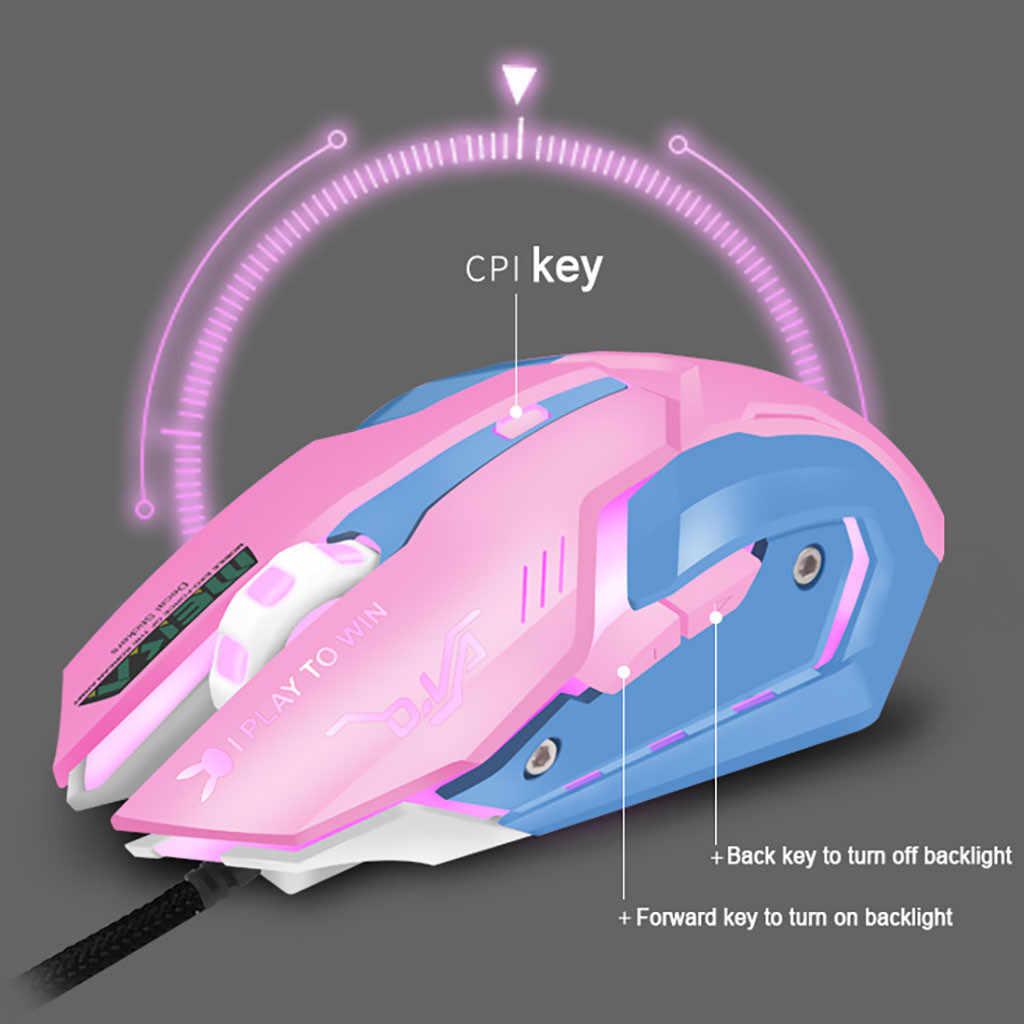 35 @ rosa Del Mouse Mouse Da Gioco Silenzioso Fare Clic Su 7 Colori Retroilluminato Gioco Optical Mouse Ergonomico Usb Filo Gamer Mouse Senza Fili magic Mouse