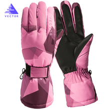 цена на VECTOR Ski Gloves Men Women Warm Winter Waterproof Skiing Snowboard Gloves Snowmobile Riding Motorcycle Outdoor Snow Gloves