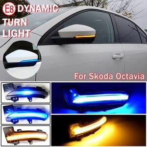 Image 1 - 2Pcs แบบไดนามิก Blinker ไฟเลี้ยว LED Light สำหรับ Skoda Octavia Mk3 A7 5E สำหรับ VW T Roc Troc T Cross 2014 2015 2017 2018 2019 2020