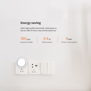 Image 3 - Yeelight LED ضوء الليل لمبة للأطفال مع حساس للضوء الذكية الجدار مصباح ل الممر المنزل غرفة نوم