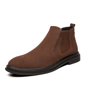 Fashion Men Chelsea Boots Ankle Cow Suede Genuine Leather Shoes Men Boots Autumn and Spring  Motorcycle Boots Big Size 38-44 high quality brand pointed toe chelsea boots genuine leather men ankle boots business office banquet fashion big size shoes