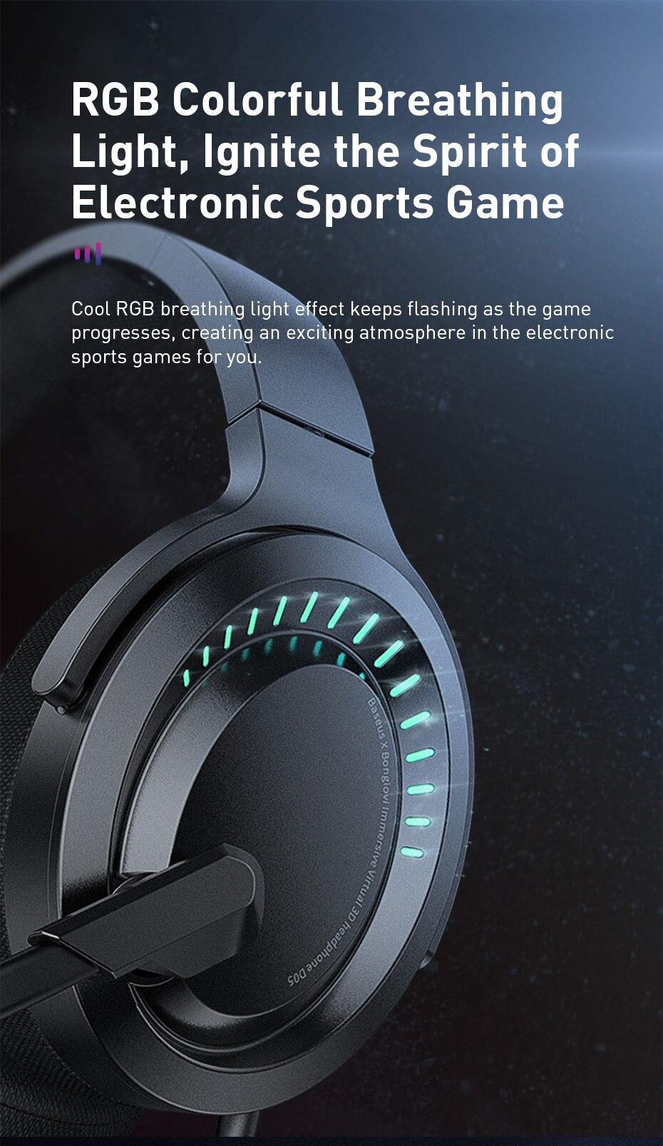 Tai nghe chơi game Baseus D05 Tai nghe chơi game 3D nhập vai ảo có micrô