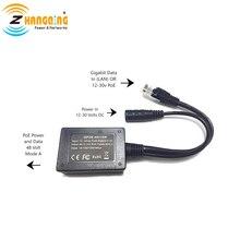 入力 10 30 82583v ギガビット出力 48 ボルト設定インジェクタ poe コンバータ任意の 802.3af または 48 v デバイスとソーラーに poe 変換