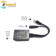 Girişi 10 30V Gigabit çıkış 48 volt kurulum enjektör PoE dönüştürücü herhangi bir 802.3af veya 48V cihazlar ve güneş PoE dönüşüm