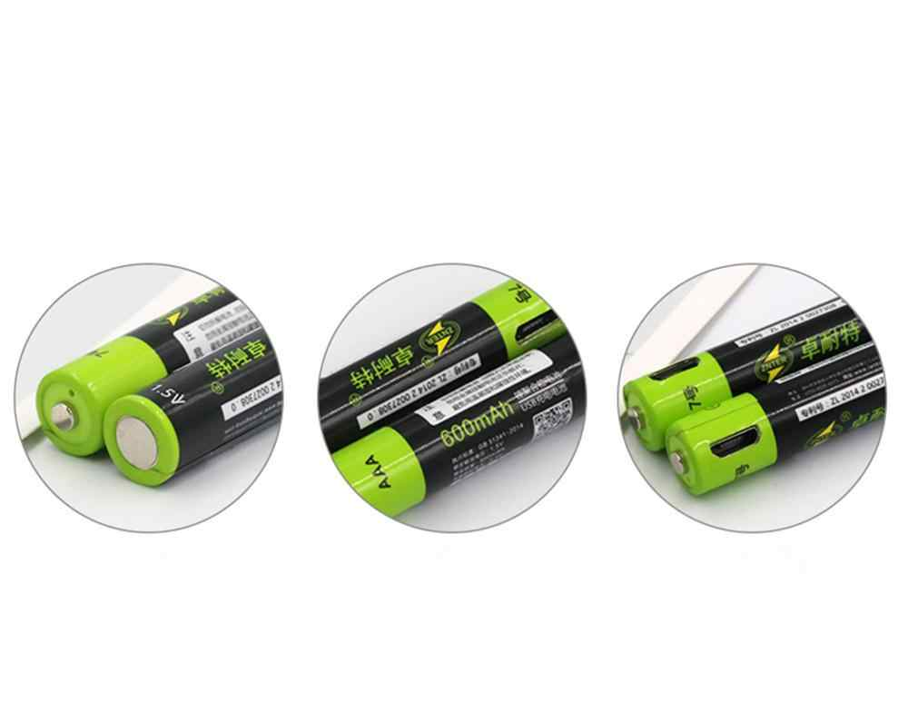 ZNTER 1.5V AAA 充電式バッテリー 600 の Usb の充電式リチウムポリマー電池急速充電マイクロ Usb ケーブルで