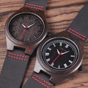 Image 3 - Bobo Vogel Houten Ebbenhout Horloge Mannen Quartz Horloges Mannelijke Hout Masculinos Relogio Masculino In Geschenkdoos Custom Logo Kol Saati