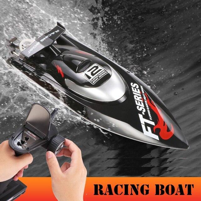 Bateau RC 2.4G 4CH sans brosse RC bateau de course Triple couverture haute vitesse de 45 km/h système de refroidissement par eau