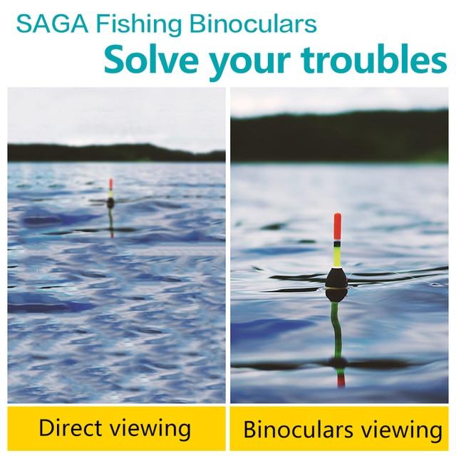 Fishing Binoculars Portable Telescope Zoom Magnifier Night Vision Binocular for Hunting Outdoor Tool 4