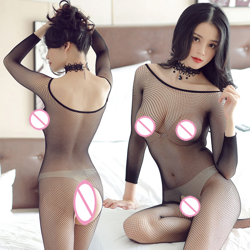 Women <font><b>Sexy</b></font> Costumes <font><b>Lingerie</b></font> <font><b>Bodysuit</b></font> Fishnet Crotchless Babydoll <font><b>Bodysuits</b></font> Nightwear <font><b>Catsuit</b></font> Erotic Underwear Mesh Bodystocking image