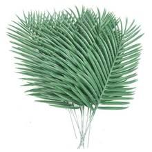 Palmier artificiel 10 pièces, fausses feuilles, plantes vertes pour l'arrangement floral, décoration de mariage