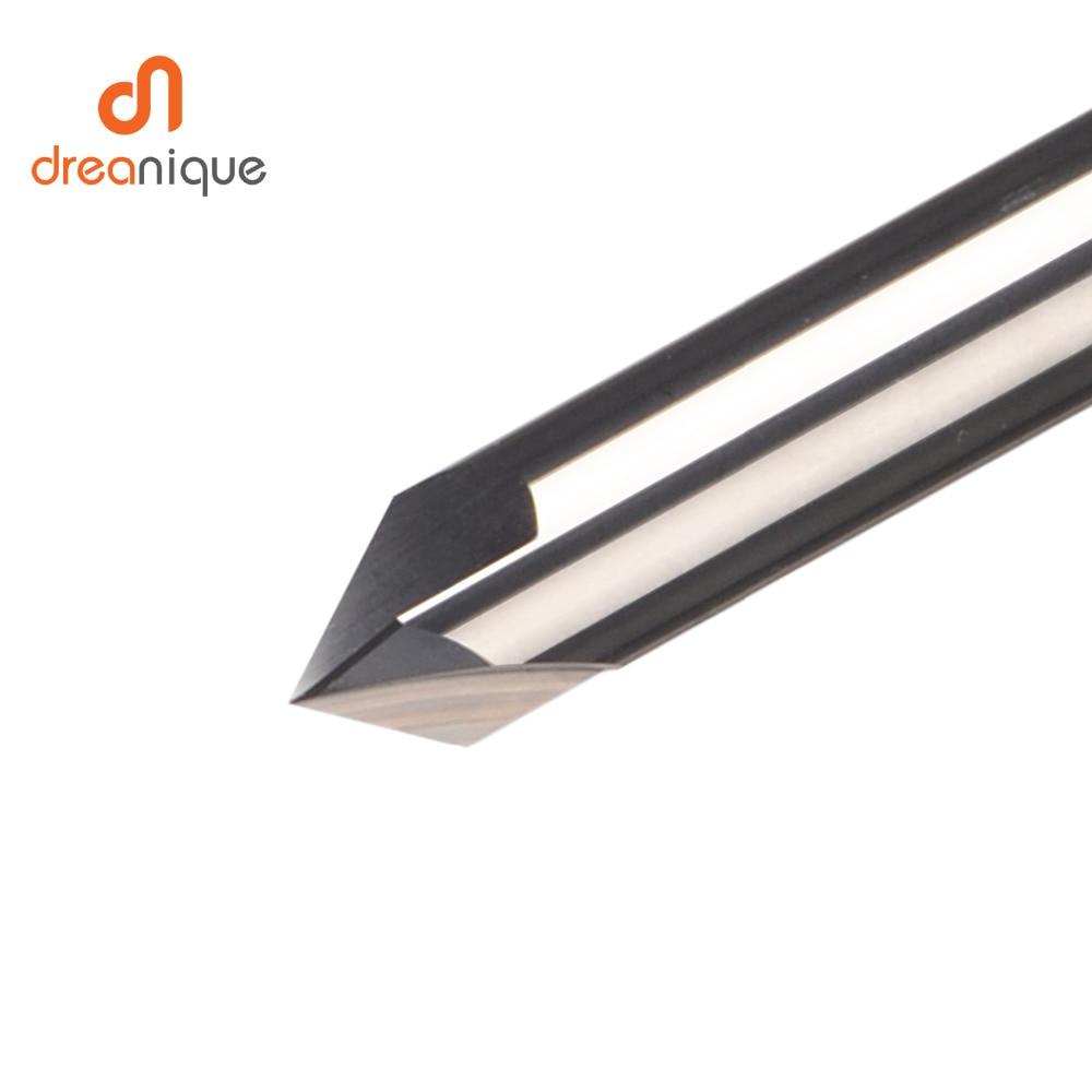Купить с кэшбэком CNC tungsten carbide Chamfer milling cutter aluminium Copper,60 90 120 DEG deburring end mill 90 degree V groove router bit