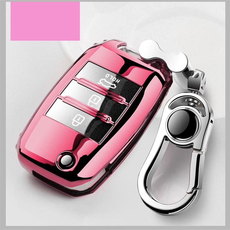 lowest price Soft TPU Car Key Case Key Cover For Kia Rio Sportage Ceed Cerato Sorento K2 K3 K4 K5 2018 2019 2020 Key Shell Holder Full Cover