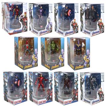 ZD Marvel Avengers Iron Man MK85 Spiderman kapitan ameryka wojna maszyna czarna pantera Hulk Thanos 7 #8222 figurka CollectionToy tanie i dobre opinie Disney Model 4-6y 7-12y 12 + y CN (pochodzenie) Unisex not for children under 3 years 18~22cm On Avengers Wersja zremasterowana