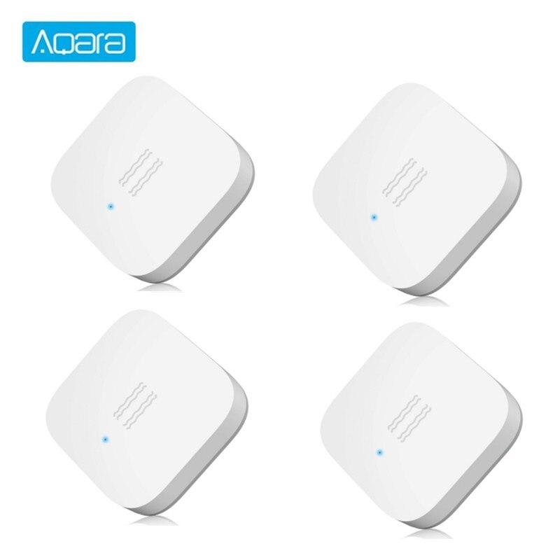 Aqara Smart Vibration Sensor Zigbee Motion Shock Sensor Detection Alarm Monitor Built In Gyro For Home Safety
