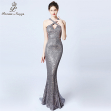 Sexy personality backless Evening Dress vestido de festa Elegant Candy colors Long Sequin prom gowns Formal Party dress