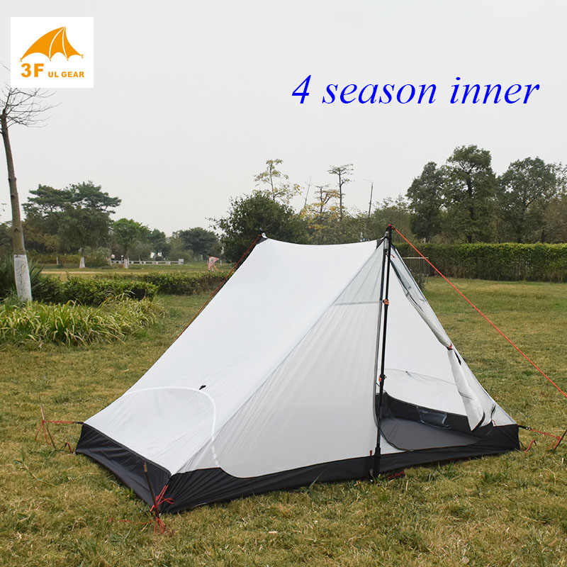 LanShan 2 3F 2 osoby nie zobaczyć um Ultralight namiot kempingowy 3 sezony/4 sezony 15D Silnylon namiot bez sztoku