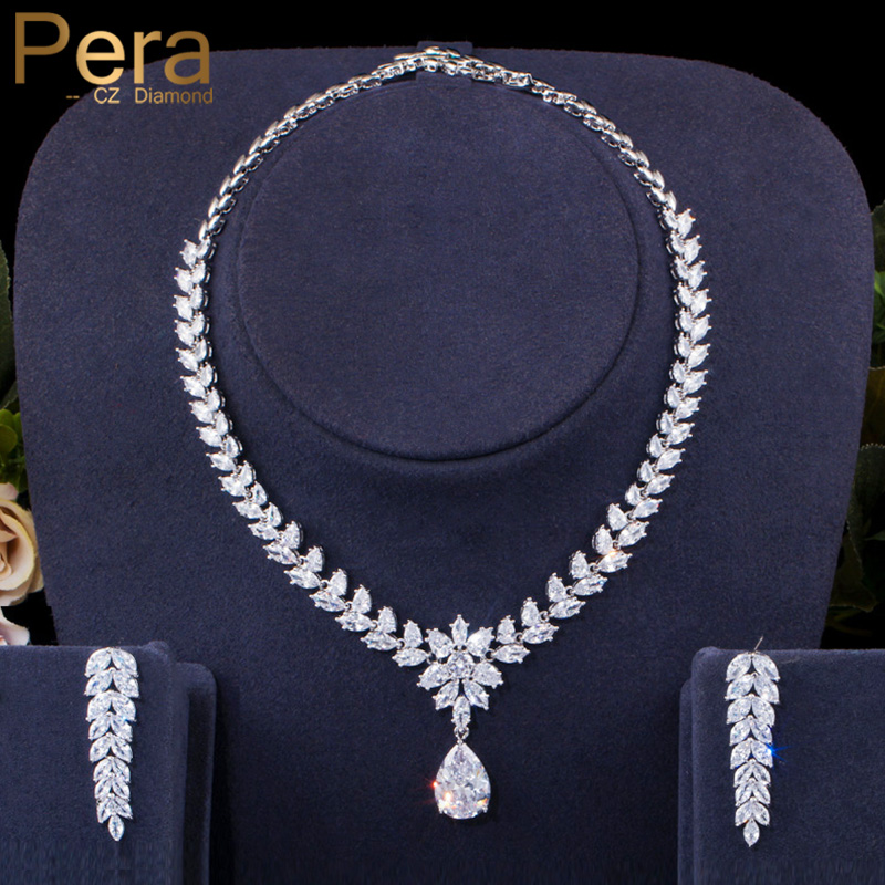 Elegant Women Lady Crystal Leaf Ear Stud Wedding Party Jewelry Necklace Jewelry Crafting Key Chain Bracelet Pendants Accessories Best Color White