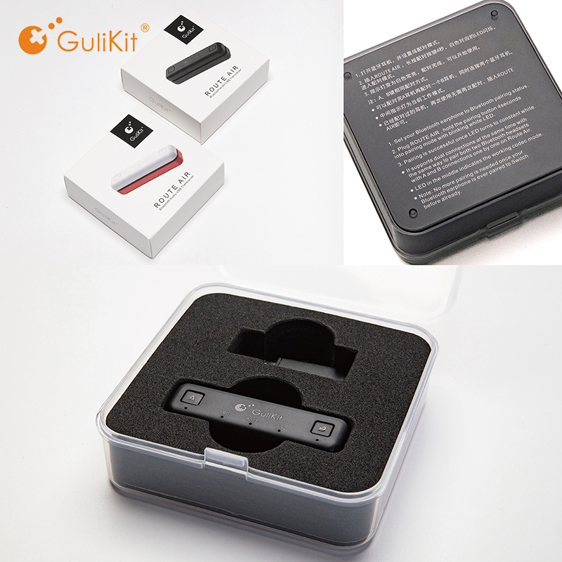 GuliKit NS07 USB C Route Air Bluetooth Wireless Audio Adapter or Type-C Transmitter for the Nintendo Switch Switch Lite PS4 PC(China)