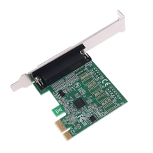 Parallel Port DB25 25Pin PCIE Riser Card LPT Printer to PCI-E Express Converter 45BA