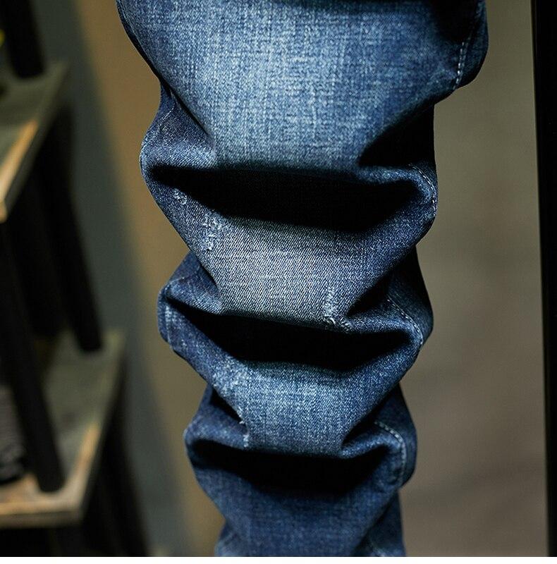 KSTUN Slim Fit Jeans Men Stretch Blue Fashion Mens Brand Jeans Casual Denim Pants Men's Clothing Male Long Trousers Wholesale 17