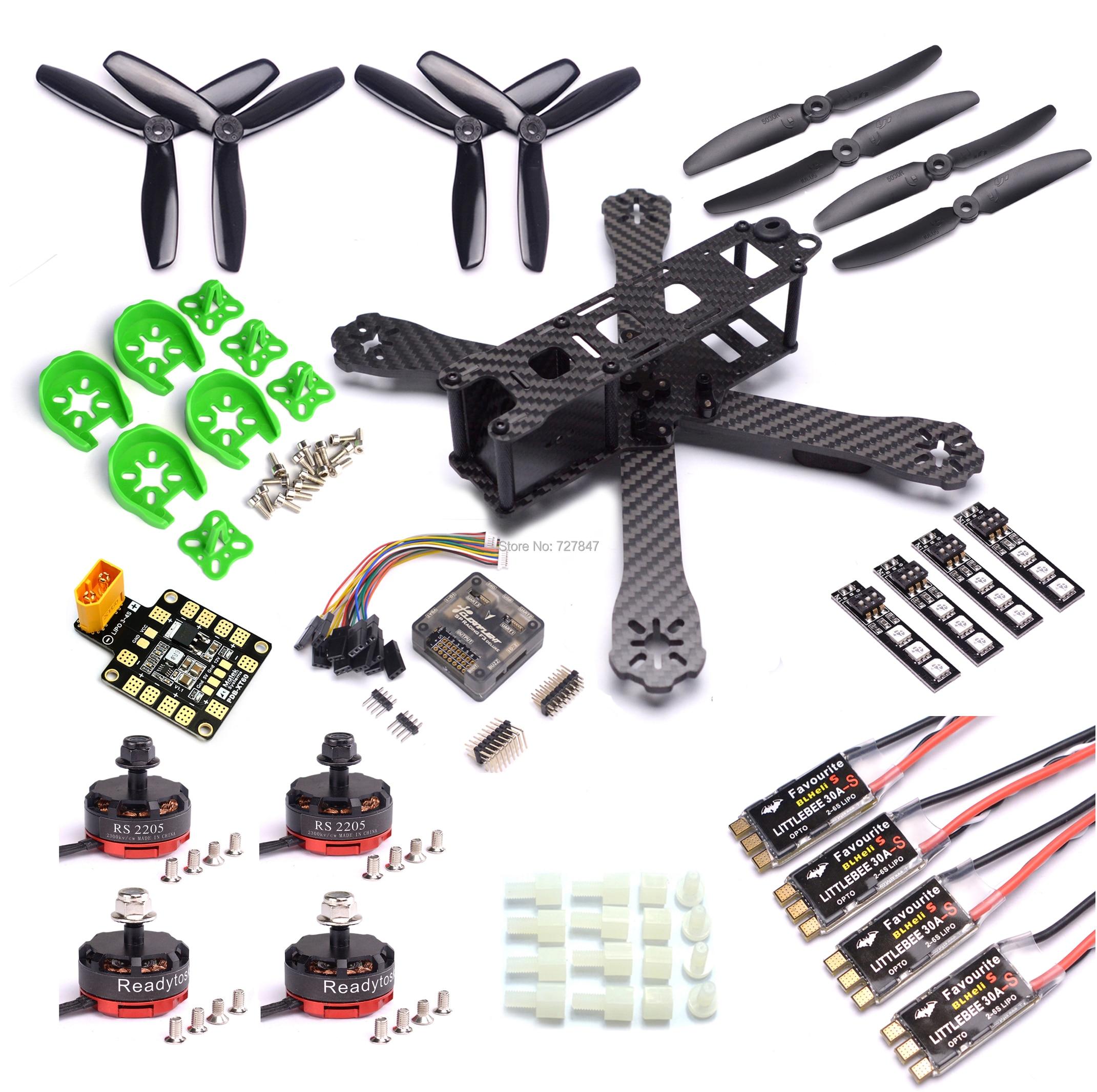QAV-R 220mm Carbon Fiber Racing Drone Quadcopter QAV-R 220 F3 Flight Controller RS2205 2300KV Motor LittleBee 30A-S ESC BLHeli