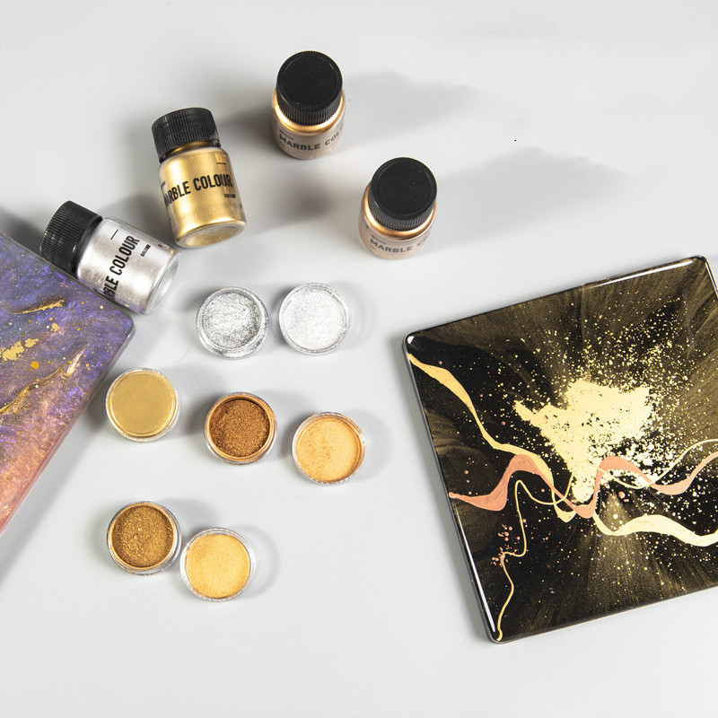Shimmer Metallic Gold Pigment Pearlescent Metallic Colorant Pearl Pigment Dye UV Resin Color Epoxy Resin Colour Jewelry Making