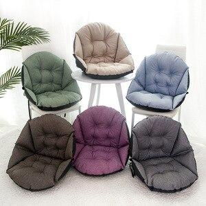 Image 4 - Étudiant lin tapisserie dameublement épais chaud siège coussin bureau taille coussin ordinateur chaise coussin