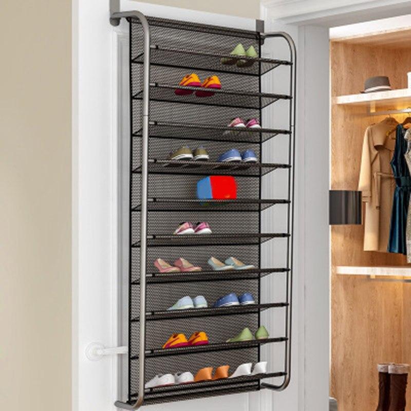 New Practical Over Door Hanging Shoe Rack Shoes Organizer Wall Mounted Shoe Hanging Shelf Multi-layer Household Storage Rack