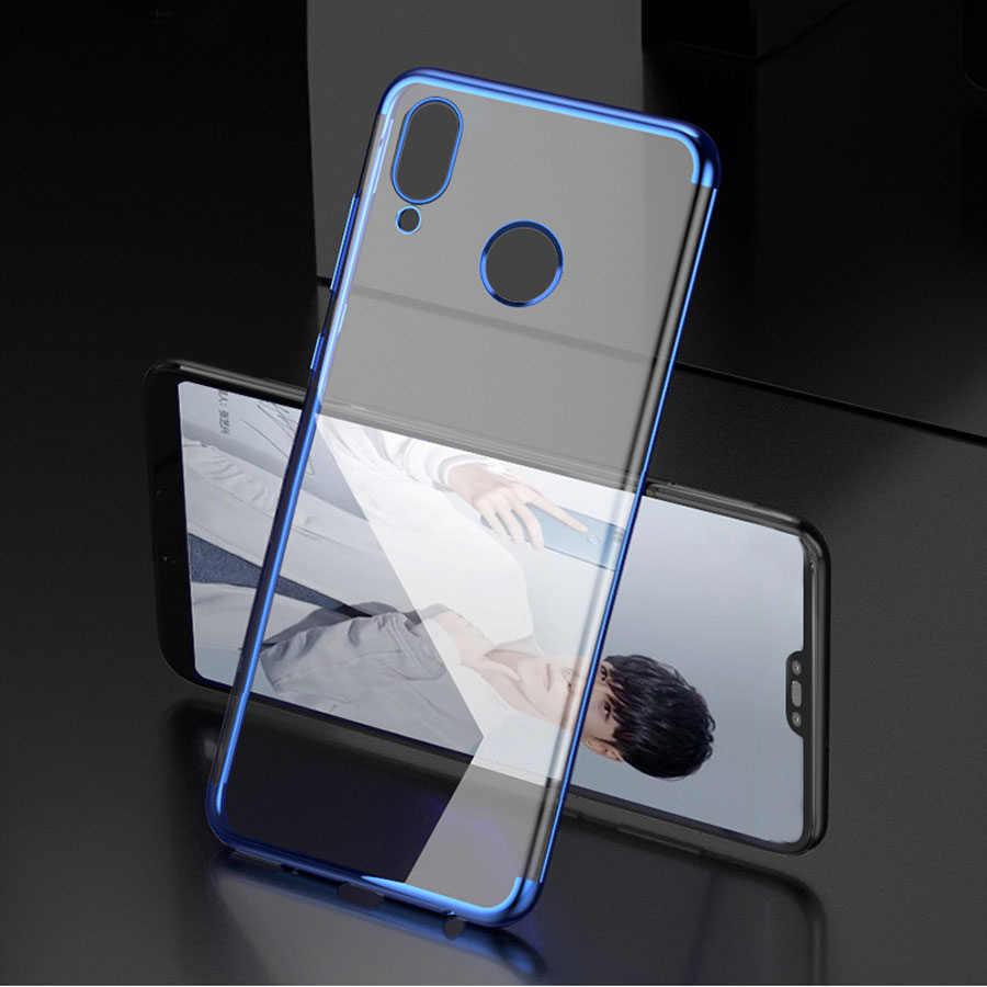פשוט ומסוגנן כיסוי מצופה אנטי-סתיו רך TPU הגנת טלפון נייד מקרה עבור Huawei Mate 10 20 LiteP10 p20 נובה 2S 3E 3i