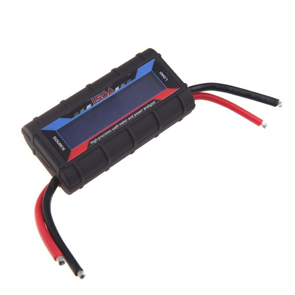 Купить с кэшбэком DishyKooker 150 AMP Watt Meter with Special Heavy WI Wire Wind Generator Solar DC Online(Black)