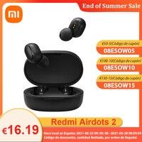 Xiaomi-auriculares inalámbricos Redmi Airdots 2 versión Global, cascos básicos con Bluetooth 5,0, reducción de ruido
