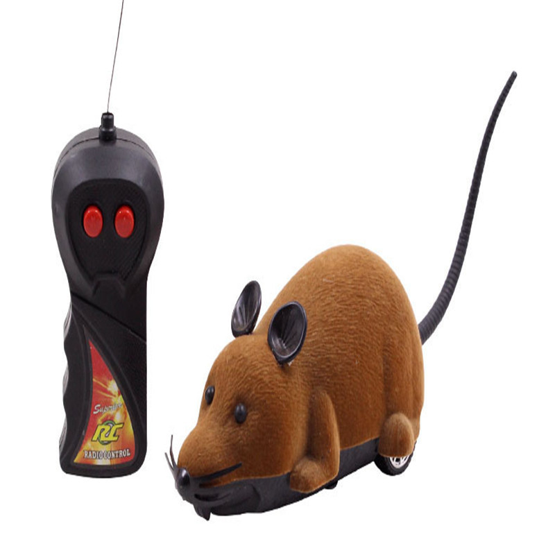 3 colors Wireless Remote Control Brown Rat Mouse Toy For Cat Kitten Dog Pet Novelty Gift Cat Supplies