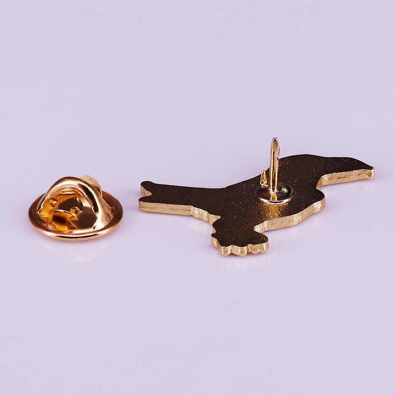 Corvo nero spilla Gothic stregoneria gioielli