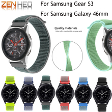 Gear S3 Frontier band for Samsung Galaxy watch 46mm strap 22mm Nylon Loop watchband Bracelet Classic Smart Wristband