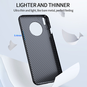 Image 3 - Grma Echte Pure Carbon Fiber Telefoon Back Cover Voor Huawei P40 P30 Mate 30 Pro Case Ultra Dunne Anti Vallen shockproof Telefoon Cover