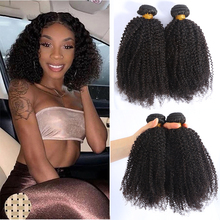 9A Afro Kinky Curly Brazilian Weave 100% Natural Human Hair Bundles Full Volumen Ends Double Weft Deal Remy Hair Extension