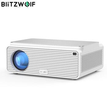 Blitzwolf BW-VP3 LCD Projector 380 ANSI 6500 Lumen Android 8.0 16GB BT4.0 RJ45 LAN 4K Resolution Multiple Ports Built-in Speaker