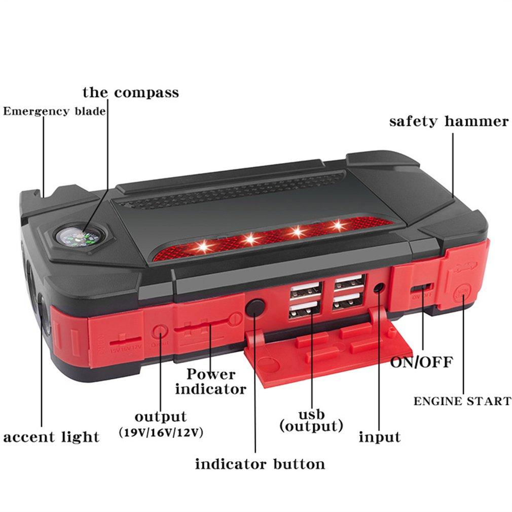 Multi Funzione Auto di Avvio di Emergenza Batteria Agli Ioni di Litio Polimero di Potere di Ricarica per Auto Notebook Tesoro Mobile di Potere - 4