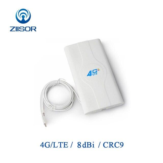 3g 4g lte mimo wifi antena painel externo crc9 impulsionador de sinal para roteador com adaptador crc9 e cabo Z142 W4GCRJ