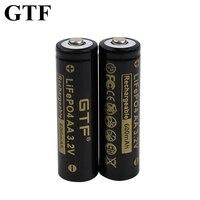 Batteria GTF 3.2V LiFePO4 AA per fotocamera e luci a led solari giocattoli elettrici batteria a punta mouse wireless batteria al litio 600mAh