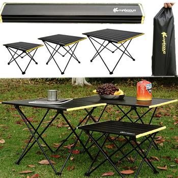 Piknik na świeżym powietrzu składane biurko stół kempingowy Ultralight przenośny składany stół namiot stół ze stopu aluminium stół na biurko wędkarskie tanie i dobre opinie OLOEY CN (pochodzenie) Metal Z aluminium S M L Stół ogrodowy meble zewnętrzne aluminum alloy picnic camping fishing etc